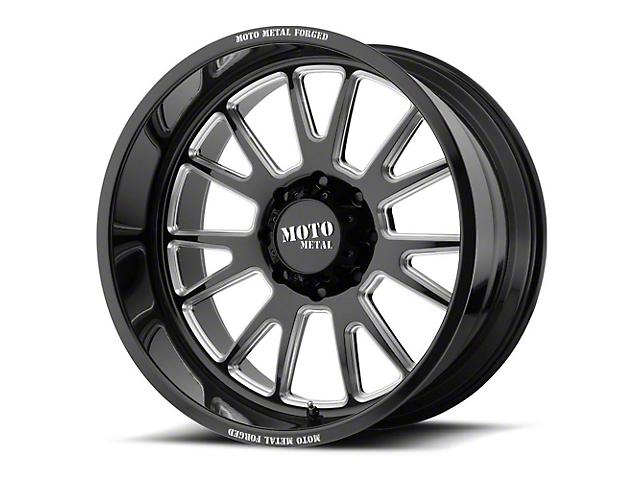 Moto Metal MO401 Gloss Black Milled 6-Lug Wheel; 24x14; -76mm Offset (14-18 Silverado 1500)