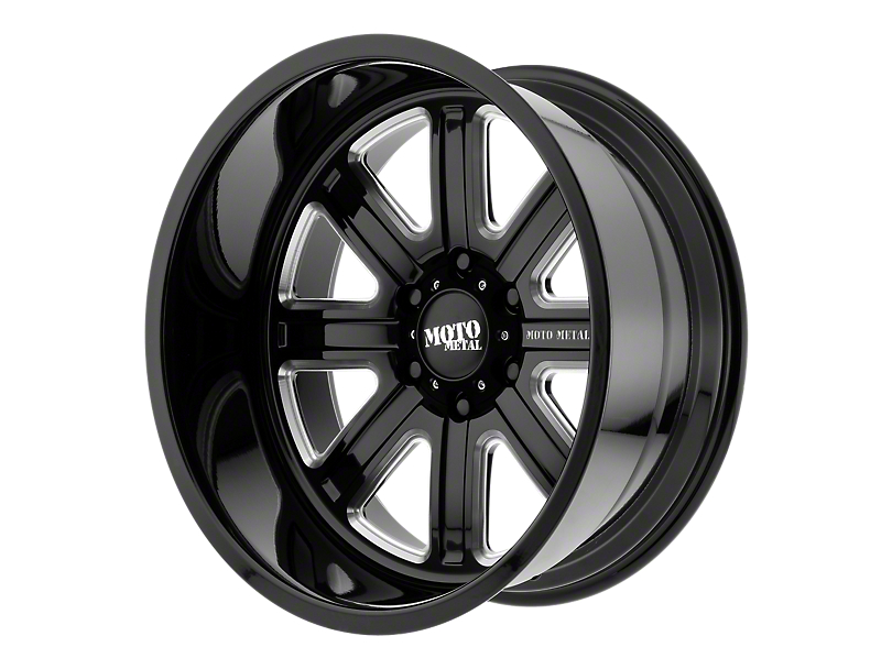 Moto Metal MO402 Gloss Black Milled 6-Lug Wheel - 22x10 (99-19 Silverado 1500)