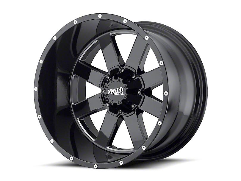 Moto Metal MO962 Gloss Black Milled 6-Lug Wheel - 22x14; -76mm Offset (99-19 Silverado 1500)