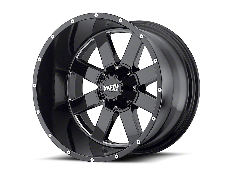 Moto Metal MO962 Gloss Black Milled 5-Lug Wheel; 20x9; 0mm Offset (14-20 Tundra)
