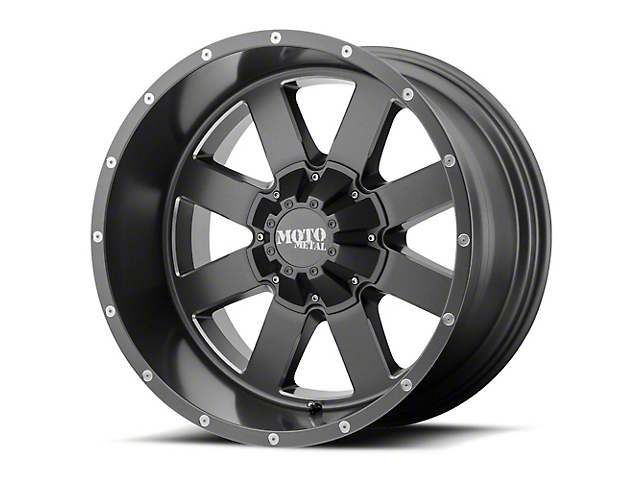 Moto Metal MO962 Satin Gray Milled 5-Lug Wheel; 20x10; -24mm Offset (07-13 Tundra)