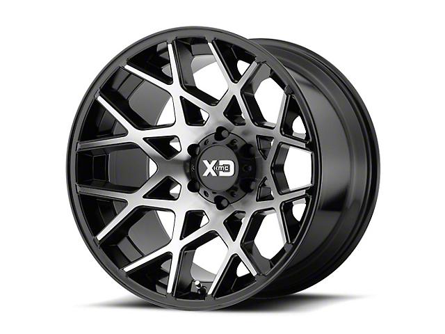 XD Chopstix Gloss Black Machined 6-Lug Wheel; 22x12; -44mm Offset (14-18 Silverado 1500)