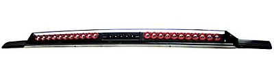 Alteon MEGA Bermuda Black LED Third Brake Light w/ Red Trim (99-06 Silverado 1500)
