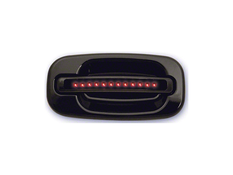 Axial Rear Black Door Handles w/ Red LED & Smoked Lens (04-06 Silverado 1500 Crew Cab)