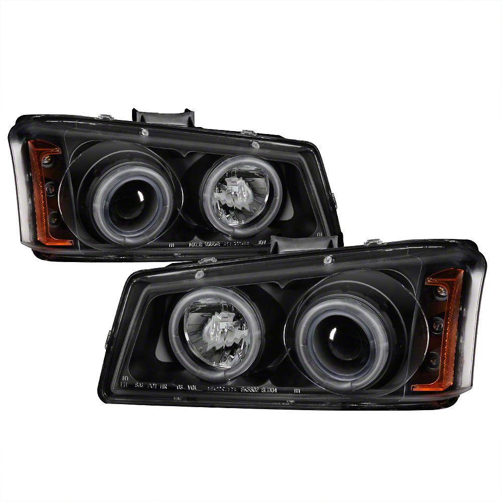 Axial Black Projector Headlights w/ CCFL Halo (03-06 Silverado 1500)