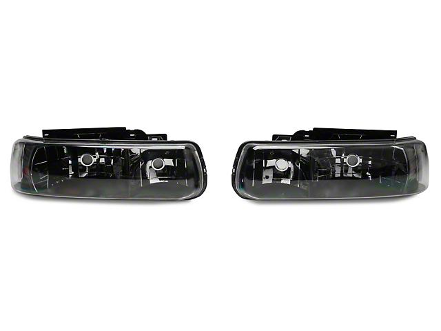 Axial Black Euro Style Headlights (99-02 Silverado 1500)