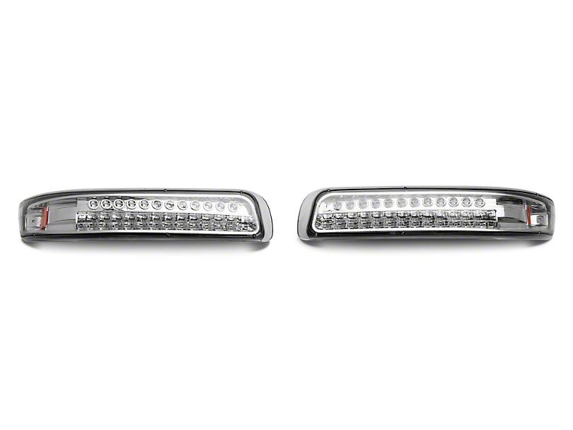 Axial Chrome LED Turn Signal & Parking Lights w/ Amber Reflector - Clear Lens (99-02 Silverado 1500)