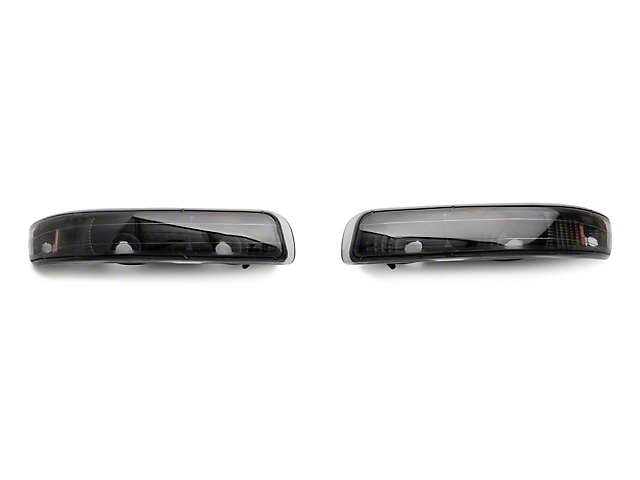 Axial Black Euro Style Turn Signal Parking Lights 99 02 Silverado 1500