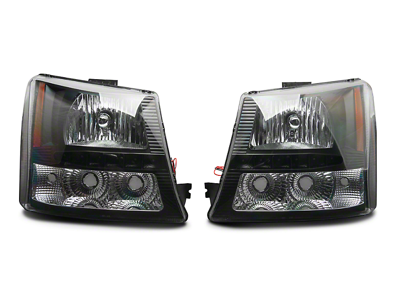 Axial 1-Piece Black SMD LED Headlights & Bumper Lights (03-06 Silverado 1500)