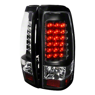 Axial Black LED Tail Lights - Clear Lens (03-06 Silverado 1500 Fleetside)