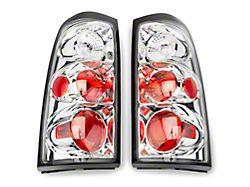 Altezza Tail Lights; Chrome Housing; Clear Lens (03-06 Silverado 1500 Fleetside)