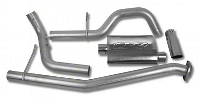 CGS Motorsports Aluminized Single Exhaust System - Side Exit (02-06 5.3L Silverado 1500)