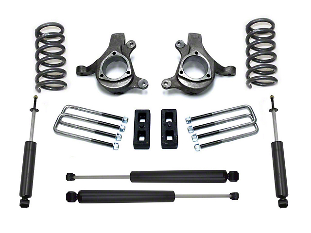 Max Trac 5 in. Front / 3 in. Rear Lift Kit w/ Maxtrac Shocks (99-06 2WD V6 Silverado 1500)