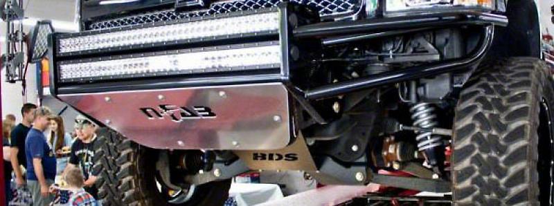 N-Fab R.S.P. Pre-Runner Front Bumper for Dual 38 in. Rigid LED Lights - Gloss Black (99-02 Silverado 1500)