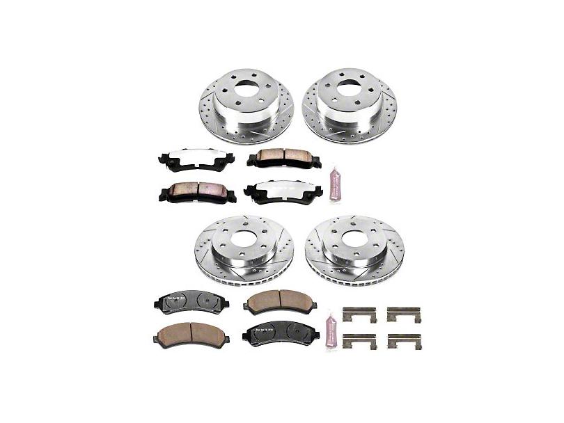Power Stop Z36 Extreme Truck & Tow 6-Lug Brake Rotor & Pad Kit - Front & Rear (99-06 Silverado 1500 w/o Rear Drum Brakes)