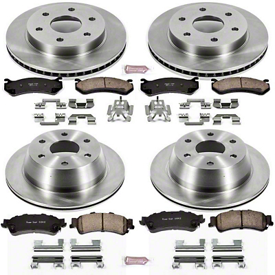 Power Stop OE Replacement 6-Lug Brake Rotor & Pad Kit - Front & Rear (99-06 Silverado 1500 w/o Rear Drum Brakes)