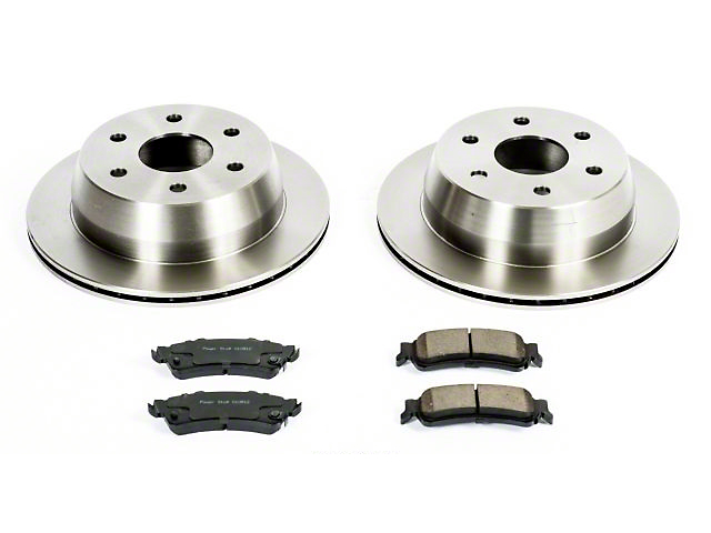 Power Stop OE Replacement 6-Lug Brake Rotor and Pad Kit; Rear (99-06 Silverado 1500 w/o Rear Drum Brakes)