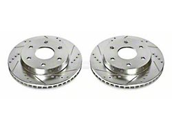 Power Stop Evolution Cross-Drilled and Slotted 6-Lug Rotors; Front Pair (99-06 Silverado 1500 w/o Rear Drum Brakes)