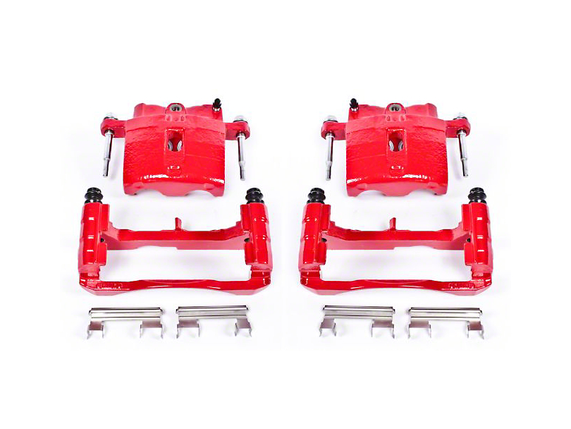 Power Stop Performance Front Brake Calipers - Red (99-06 Silverado 1500)