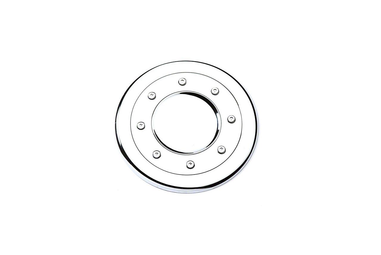 Putco Chrome Fuel Tank Door Cover w/ Silver Accents (99-06 Silverado 1500)