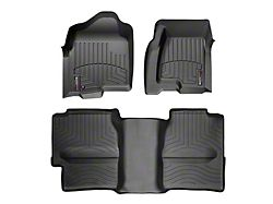 Weathertech DigitalFit Front and Rear Floor Liners with Underseat Coverage; Black (99-06 Silverado 1500 Extended Cab)