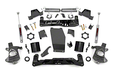 Rough Country 7 in. Suspension Lift Kit - Knuckle Kit (14-18 4WD Silverado 1500 w/ Cast Aluminum or Stamped Steel Control Arms)