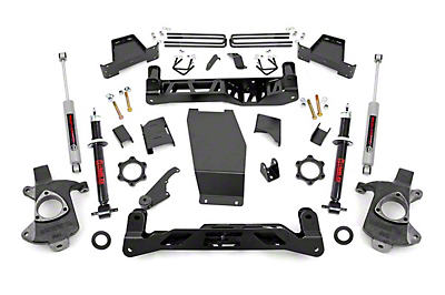 Rough Country 7 in. Suspension Lift Kit - Knuckle Kit (14-18 4WD Silverado 1500 w/ Cast Steel Control Arms)