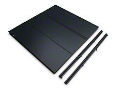 Lomax Hard Tri-Fold Tonneau Cover; Matte Black (14-18 Silverado 1500 w/ 5.80-Foot Short Box)