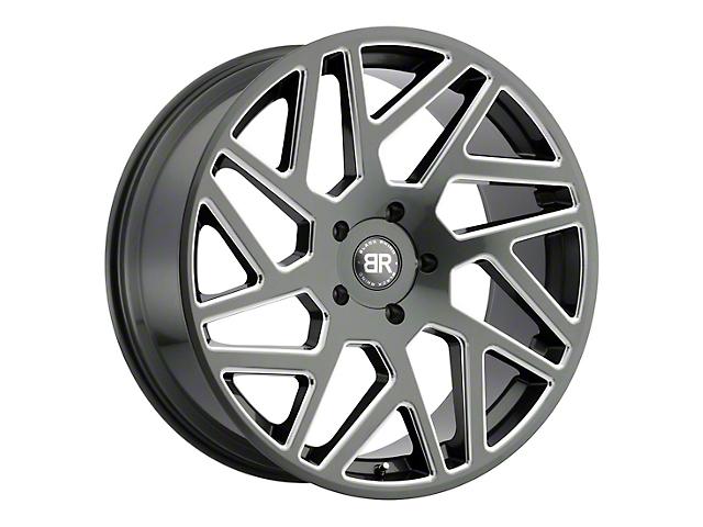 Black Rhino Cyclone Gloss Titanium Milled 6-Lug Wheel; 24x10; 25mm Offset (14-18 Silverado 1500)