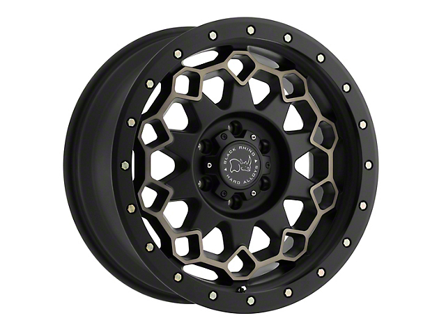Black Rhino Diamante Dark Tint Matte Black Machined w/ Bronze Bolts 6-Lug Wheel; 17x9; -12mm Offset (14-18 Silverado 1500)