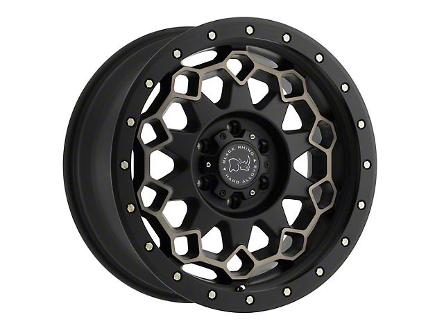 Black Rhino Diamante Dark Tint Matte Black Machined w/ Bronze Bolts 6-Lug Wheel; 20x9; -12mm Offset (14-18 Silverado 1500)