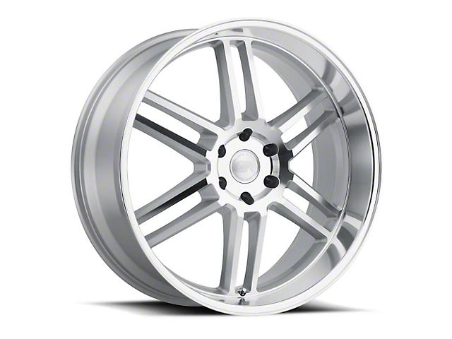 Black Rhino Katavi Silver 6-Lug Wheel; 24x10; 20mm Offset (14-18 Silverado 1500)