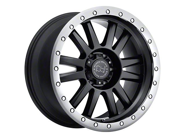 Black Rhino Tanay Matte Black w/ Graphite Lip 6-Lug Wheel; 20x9; 12mm Offset (14-18 Silverado 1500)