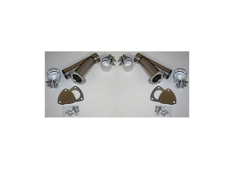 Granatelli Motor Sports Manual Exhaust Cutout - 2.5 in. - Pair (Universal Fitment)