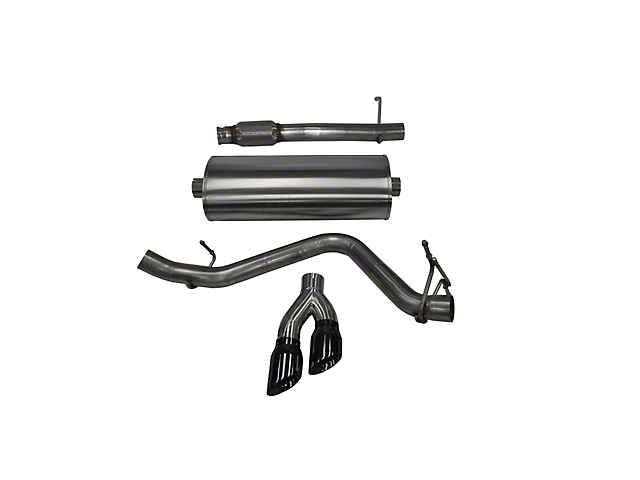 Corsa 3-Inch Touring Single Exhaust System with Twin Black Tips; Side Exit (14-18 5.3L Silverado 1500)
