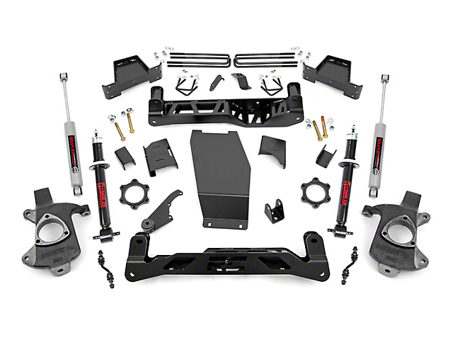 Rough Country 7 in. Suspension Lift Kit w/ N2.0 Struts & N3 Shocks (14-17 4WD Silverado 1500 w/ Stamped Steel or Cast Aluminum Control Arms)