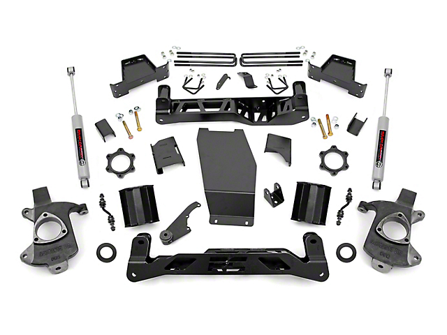 Rough Country 7 in. Suspension Lift Kit w/ N3 Shocks (14-17 4WD Silverado 1500 w/ Stamped Steel or Cast Aluminum Control Arms)