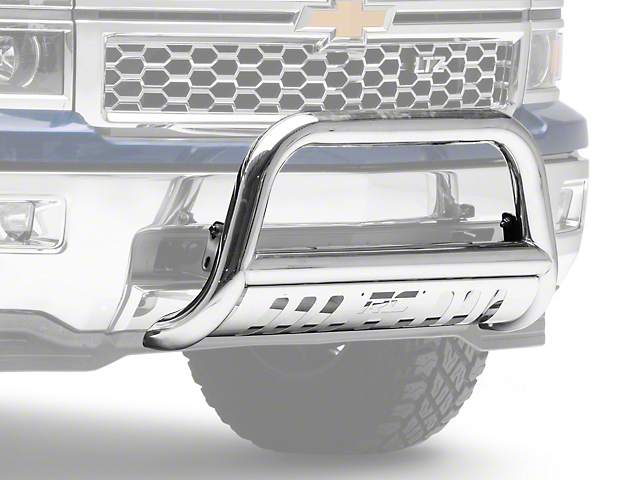 Rough Country Bull Bar; Stainless Steel (07-18 Silverado 1500)