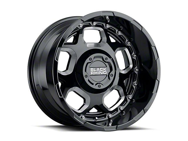 Black Rhino Gusset Gloss Black Milled 6-Lug Wheel; 18x9.5 (99-20 Silverado 1500)