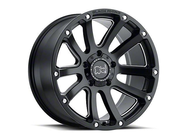 Black Rhino Highland Matte Black 6-Lug Wheel; 17x9.5 (99-20 Silverado 1500)