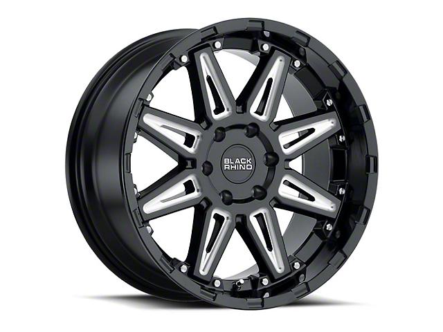 Black Rhino Rush Gloss Black Milled 6-Lug Wheel; 17x9.5 (99-20 Silverado 1500)