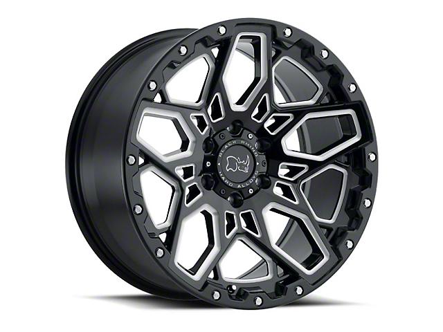 Black Rhino Shrapnel Gloss Black Milled 6-Lug Wheel; 17x9.5 (99-20 Silverado 1500)