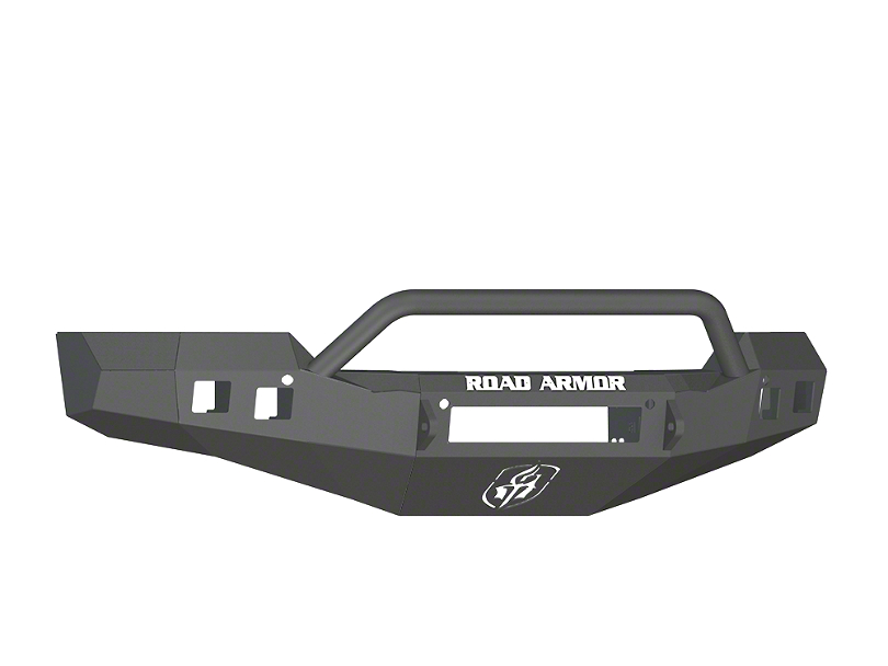 Road Armor Stealth Non-Winch Front Bumper w/ Pre-Runner Guard - Satin Black (16-18 Silverado 1500)
