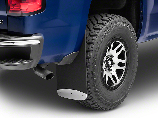 Textured Rubber Front or Rear Mud Guards - 12 in. x 23 in. (14-18 Silverado 1500)