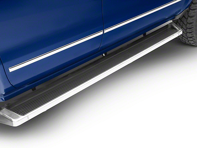 6-Inch iRunning Boards; Polished (07-18 Silverado 1500 Extended/Double Cab)