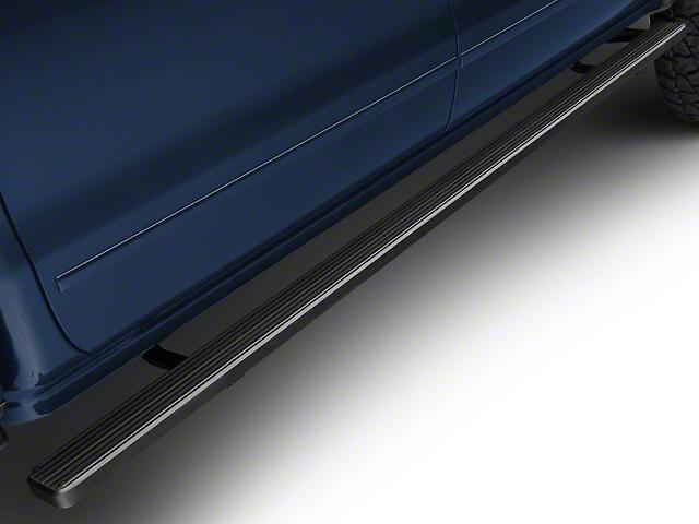 4-Inch iStep Running Boards; Black (07-18 Silverado 1500 Crew Cab)