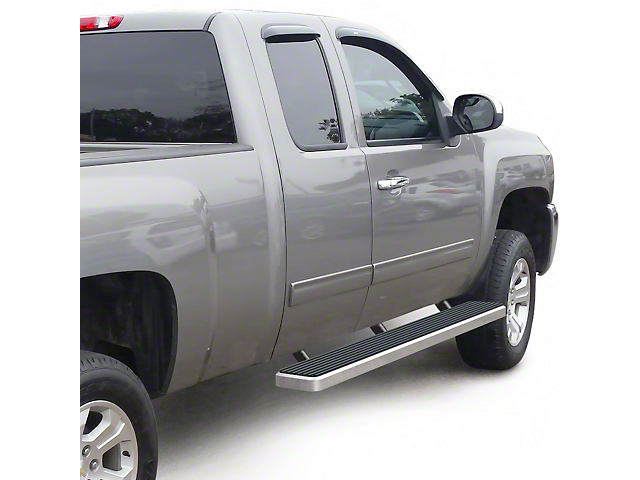 6-Inch iStep Running Boards; Hairline Silver (99-06 Silverado 1500 Extended Cab)