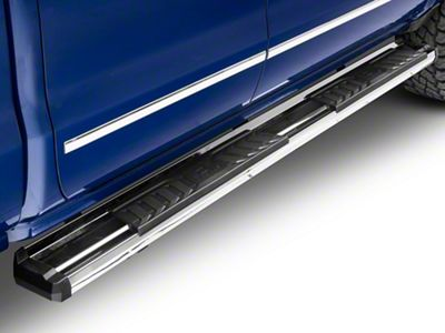 OE Style Running Boards - Silver (07-18 Silverado 1500 Extended/Double Cab)