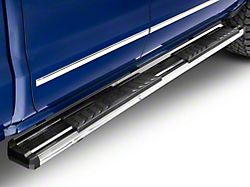 OE Style Running Boards; Silver (07-18 Silverado 1500 Extended/Double Cab)