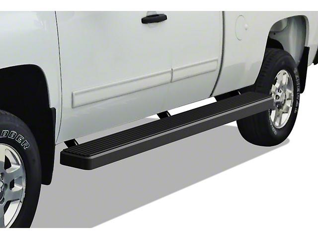 6-Inch iStep Wheel-to-Wheel Running Boards; Black (99-06 Silverado 1500 Extended Cab w/ 6.50-Foot Standard Box)